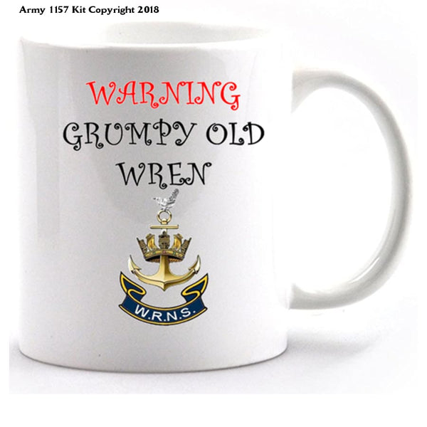 Grumpy Old Wren Mug and Gift Box Set - Army 1157 Kit  Veterans Owned Business