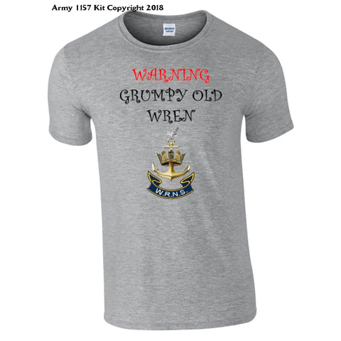 Grumpy Old Wren T-Shirt - Army 1157 Kit  Veterans Owned Business