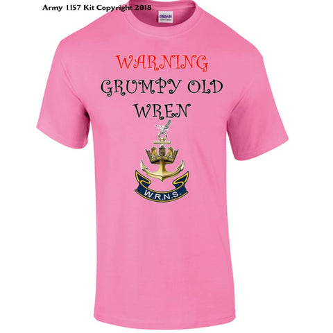 Grumpy Old WRENS T-Shirt - Army 1157 Kit  Veterans Owned Business