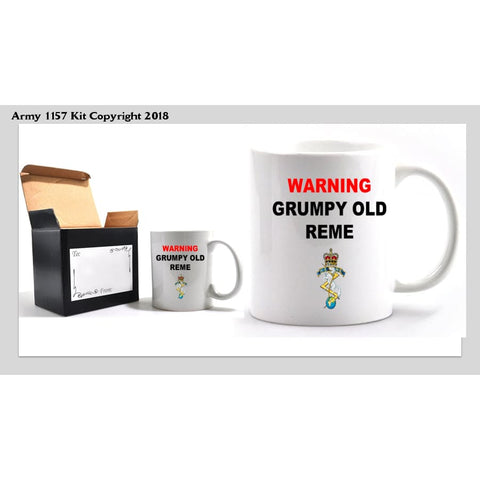 Grumpy REME Mug - Army 1157 Kit  Veterans Owned Business