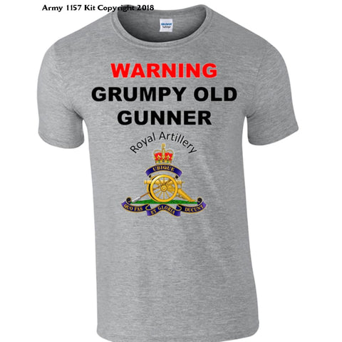 Grumpy Royal Artillery T-Shirt - Army 1157 Kit  Veterans Owned Business
