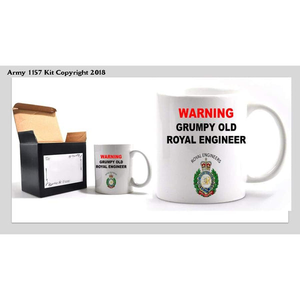 Grumpy Royal Engineers Mug - Army 1157 Kit  Veterans Owned Business
