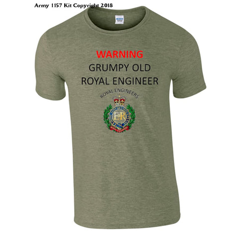 GrumpyOld Royal Engineer T-Shirt - Army 1157 Kit  Veterans Owned Business