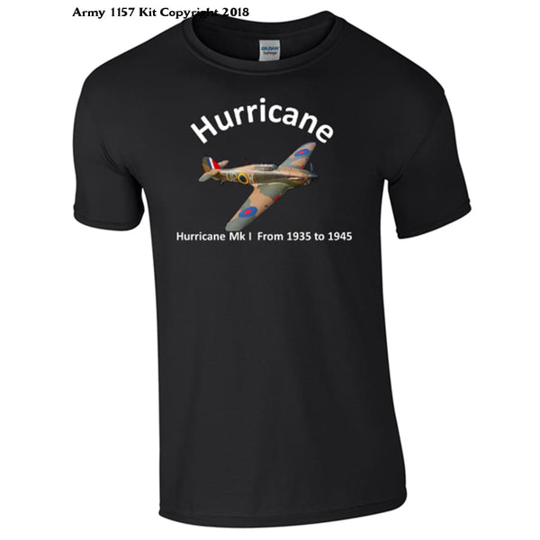 Hawker Hurricane T-Shirt - S / Black - T Shirt