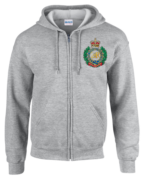 Ministry of Defence Zip Hoodie with Royal Engineers Logo Front only. Official MOD Approved Merchandise - Army 1157 Kit  Veterans Owned Business