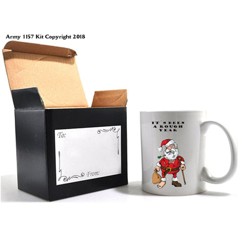 It`s been a Rough Year Mug and Gift box set. Part of the Army 1157 Kit Christmas Collection - Army 1157 Kit  Veterans Owned Business