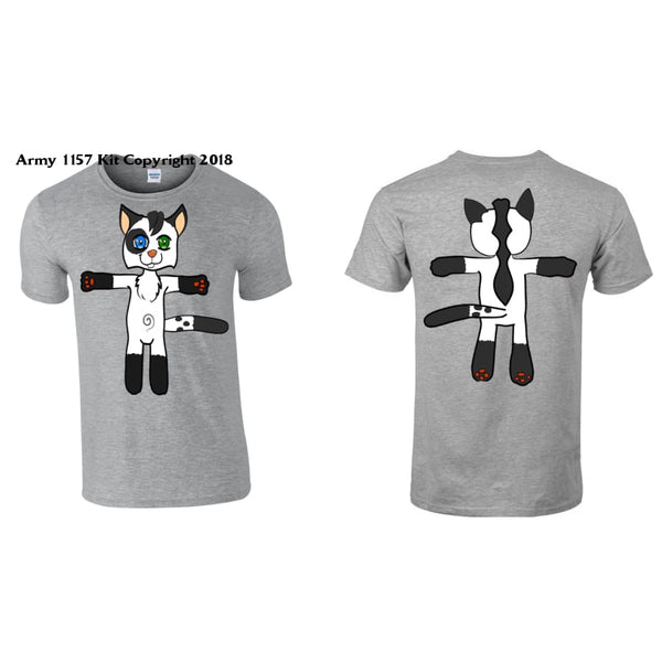 Kids Cat T-Shirt Printed Back And Front - 3-4 Years - T Shirt