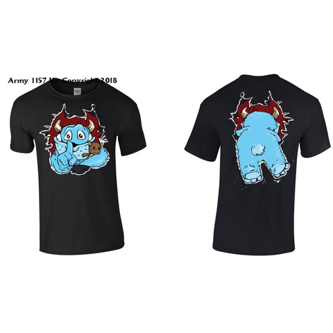 Kids Monster T-Shirt Printed Back And Front - 3-4 Years / Black - T Shirt