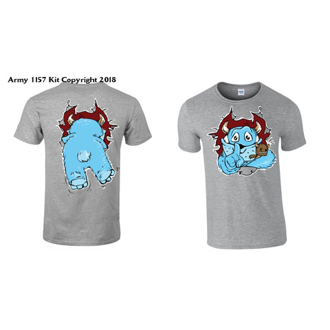 Kids Monster T-Shirt Printed Back And Front - 3-4 Years / Grey - T Shirt
