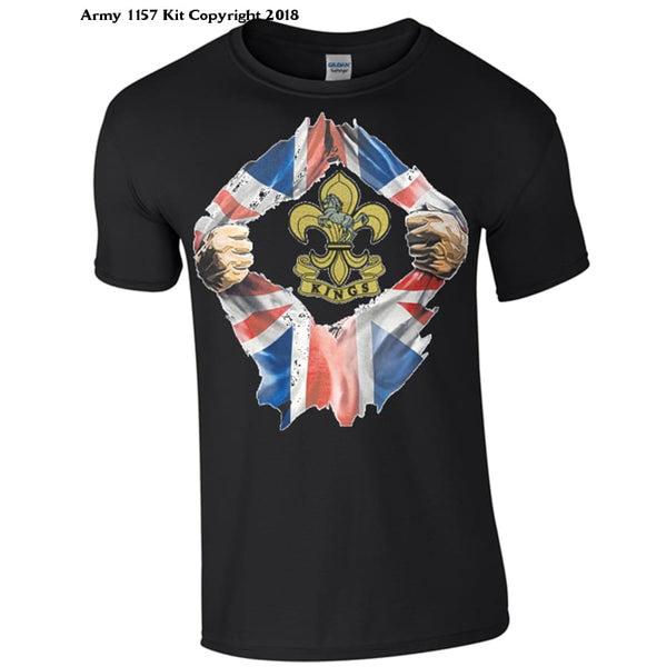 Kings Regiment T-Shirt - Army 1157 Kit  Veterans Owned Business