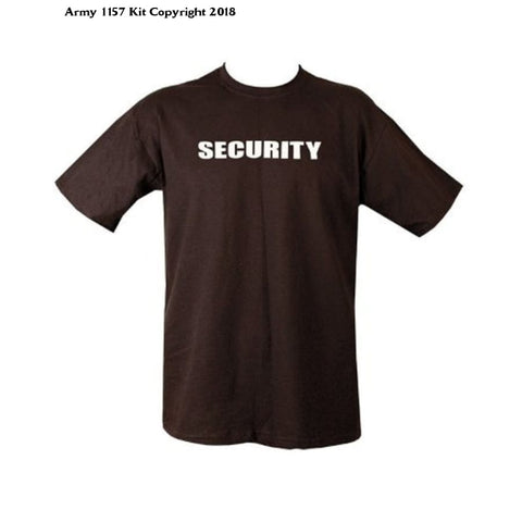 Kombatuk Security T Shirt - Doorstaff - Security Officer (Large) - Black - Sports