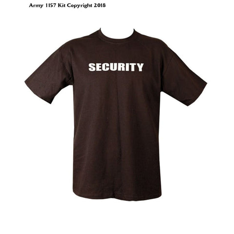 Kombatuk Security T Shirt - Doorstaff - Security Officer (Xlarge) - Black / Brown - Sports