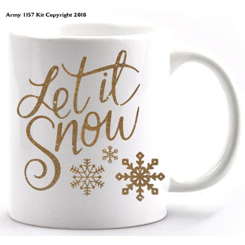 Let It Snow Mug & Gift Box Set. Part Of The Army 1157 Kit Christmas Collection - Mug