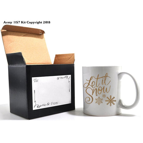 Let it Snow Mug & Gift box set. Part of the Army 1157 Kit Christmas Collection - Army 1157 Kit  Veterans Owned Business