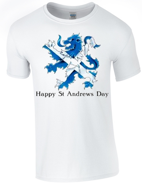 St Andrew's Day Celebration Lion T-Shirt - Army 1157 Kit  Veterans Owned Business