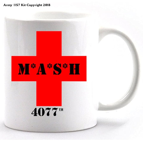 Mash 4077 ceramic mug and gift box - Army 1157 Kit  Veterans Owned Business