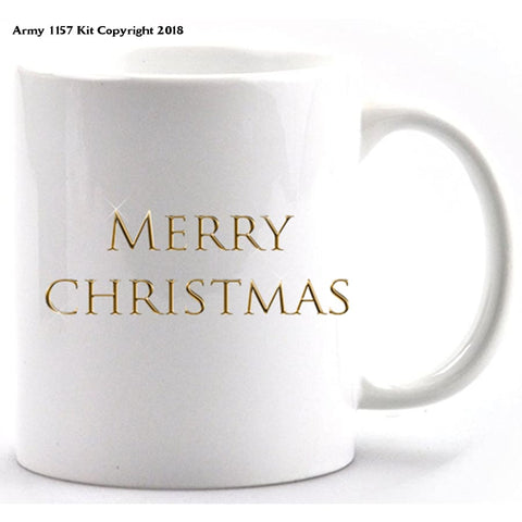 Merry Christmas Mug And Gift Box Set. Part Of The Army 1157 Kit Christmas Collection - Mug