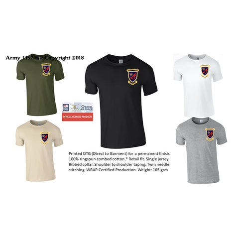 15 Missile Battery  T-Shirt  RA Front Only - Army 1157 Kit  Veterans Owned Business