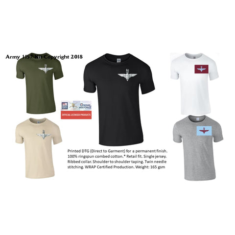 Ministry of Defence T-Shirt with Para Front Only. Official MOD Approved Merchandise - Army 1157 Kit  Veterans Owned Business