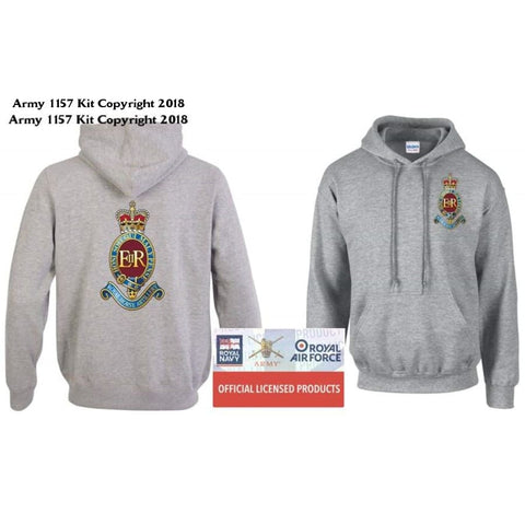 Ministry of Defence Zip Hoodie with 7 RHA Logo Front and back Official MOD Approved Merchandise - Army 1157 Kit  Veterans Owned Business