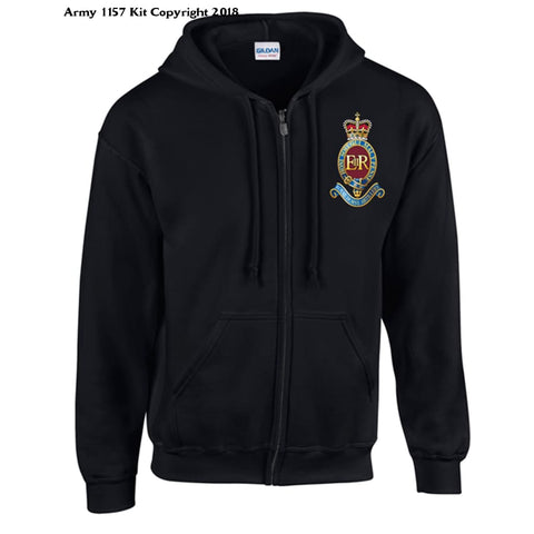 Ministry Of Defence Zip Hoodie With 7 Rha Logo Front Only Official Mod Approved Merchandise - S / Black - Hoodie