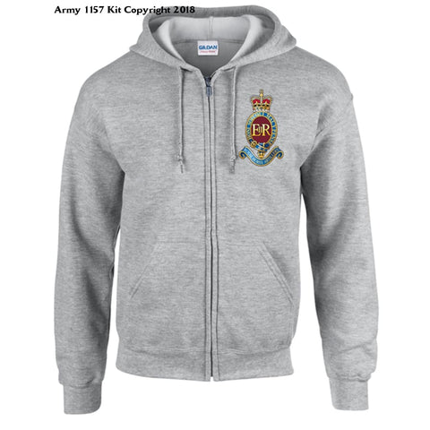 Ministry Of Defence Zip Hoodie With 7 Rha Logo Front Only Official Mod Approved Merchandise - S / Grey - Hoodie