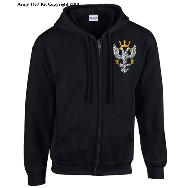 Ministry of Defence Zip Hoodie with MERCIAN Logo Front only Official MOD Approved Merchandise - Army 1157 Kit  Veterans Owned Business