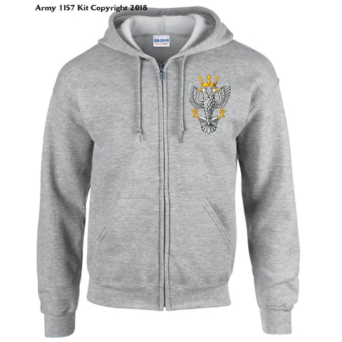 Ministry Of Defence Zip Hoodie With Mercian Logo Front Only Official Mod Approved Merchandise - S / Grey - Hoodie