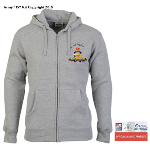 Ministry Of Defence Zip Hoodie With Royal Artillery Logo Front Only. Official Mod Approved Merchandise - S - Hoodie