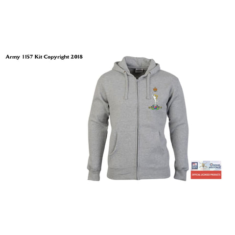 Ministry of Defence Zip Hoodie with Royal Signals Logo Front only. Official MOD Approved Merchandise - Army 1157 Kit  Veterans Owned Business