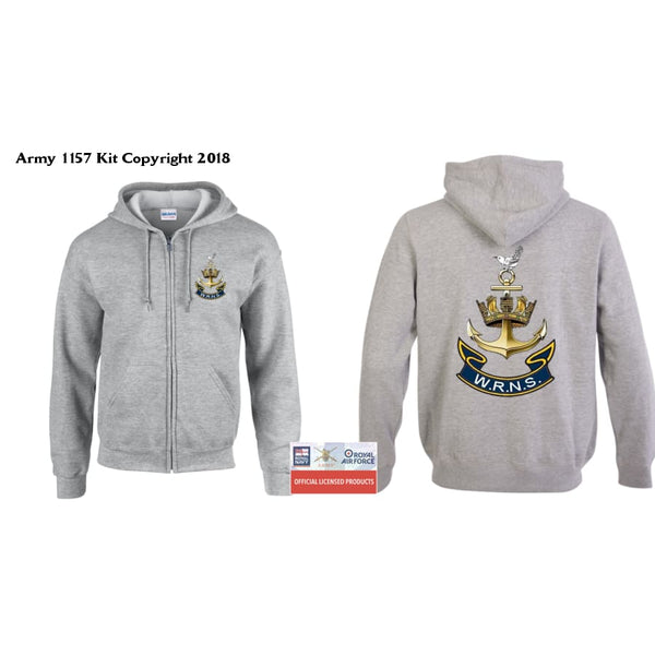 Ministry of Defence Zip Hoodie with WREN Logo Front and Back. Official MOD Approved Merchandise - Army 1157 Kit  Veterans Owned Business