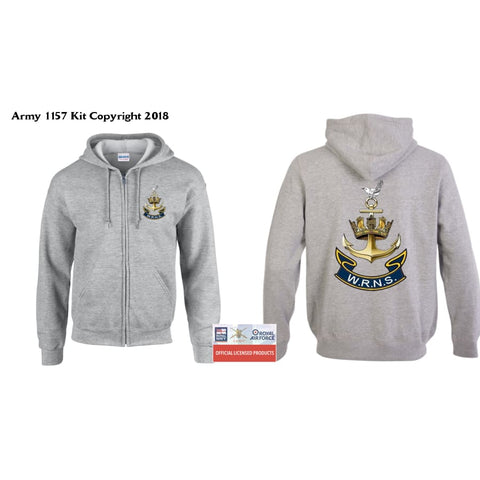 Ministry Of Defence Zip Hoodie With Wren Logo Front And Back. Official Mod Approved Merchandise - S - Hoodie