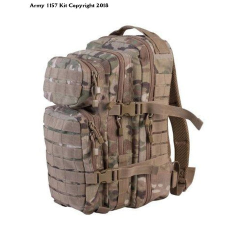 MOLLE Assault Pack Multicam - 28Litre - Military Bergan Rucksack - Army 1157 Kit  Veterans Owned Business