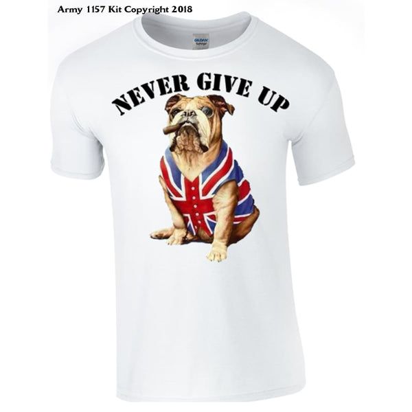 Never Give Up T-Shirt - Army 1157 Kit  Veterans Owned Business