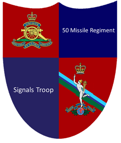 50 Missile Regiment RA  HQ - Signals Troop T Shirt