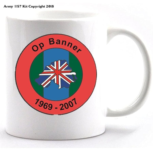 Op Banner ceramic mug and gift box - Army 1157 Kit  Veterans Owned Business