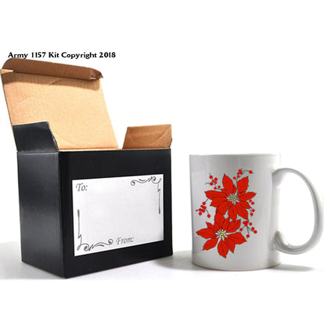 Poinsetta Mug And Gift Box Set. Part Of The Army 1157 Kit Christmas Collection - Mug