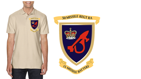 15 Missile Battery RA Polo Top - Army 1157 Kit  Veterans Owned Business