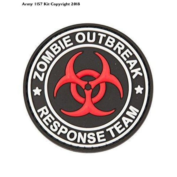 PVC Patch Zombie Outbreak Badge Morale Troops Airsoft - Army 1157 Kit  Veterans Owned Business
