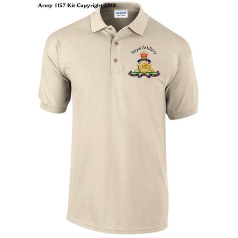 Royal Artillery/Gunner Polo Shirt - Army 1157 Kit  Veterans Owned Business