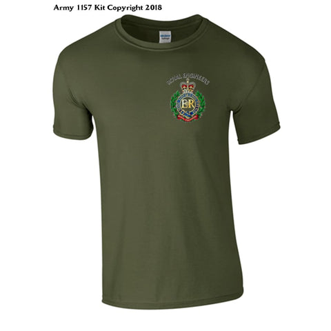 Royal Engineer T-Shirt back and front print Official MOD Approved Merchandise - Army 1157 Kit  Veterans Owned Business