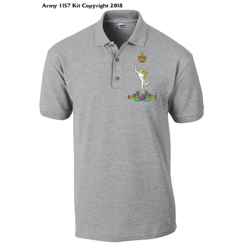 Royal Signals Polo Shirt Official Mod Approved Merchandise - S / Grey - T Shirt