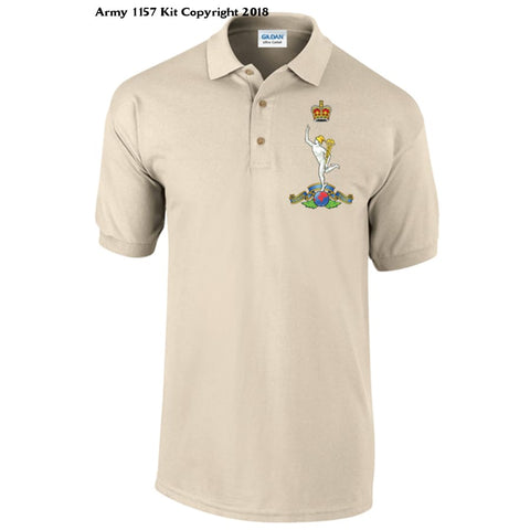 Royal Signals Polo Shirt Official Mod Approved Merchandise - S / Sand - T Shirt