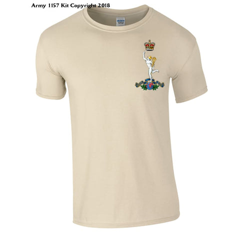 Royal Signals T-Shirt Official Mod Approved Merchandise - S / Sand - T Shirt