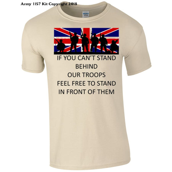 Stand Behind your Troops T-Shirt - Army 1157 Kit  Veterans Owned Business