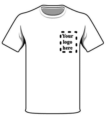 Any MOD Approved Logo printed on Front of the T Shirt.