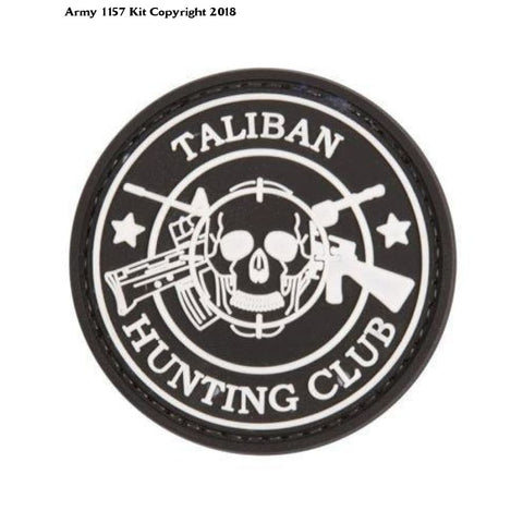 Taliban Hunting Club Airsoft Paintball Patch Black - Army 1157 Kit  Veterans Owned Business