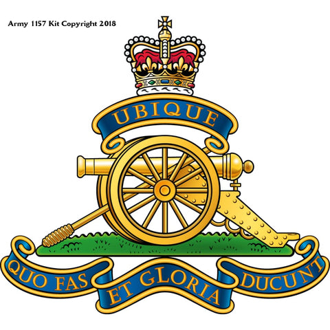 The Royal Regiment Of Artillery (Ra) Front Colour