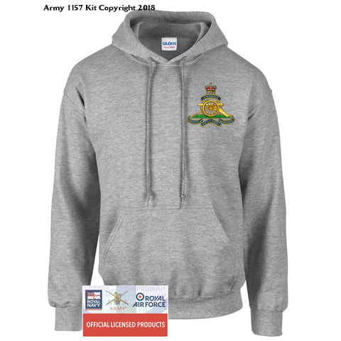 Royal Artillery Hoodie Front Print - Army 1157 Kit  Veterans Owned Business