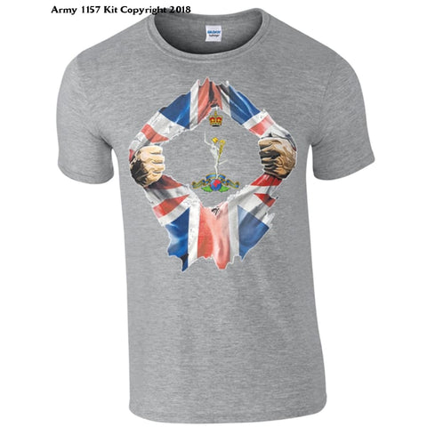 The Royal Signals Breakthrough T-Shirt Official Mod Approved Merchandise - S / Grey - T Shirt